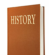 A generic history book that is representative of USD's Historical Spotlights Series