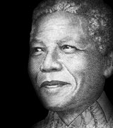 Drawing of Social Changemaker, Nelson Mandela, who is one of the many subjects in the Social Changemakers Series